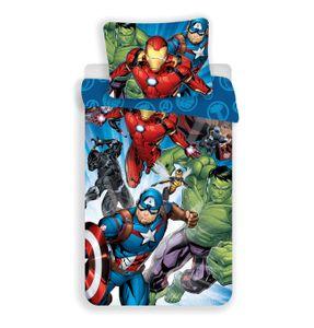 Marvel Avengers Comic Kinder Bettwäsche 2tlg. Set 135-140x200 Thor Hulk Ironman