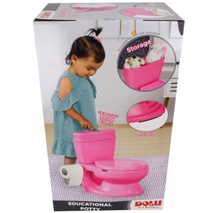 Dolu 7252 Toilettentrainer Rosa Mädchen Kinder Toiletten Sitz Lern Töpfchen Neu