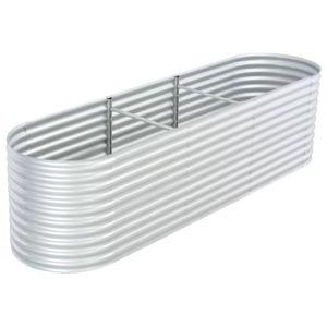 dereoir Pflanzkübel Silbern 320 x 80 x 81 cm Verzinkter Stahl