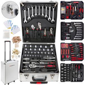 AREBOS 1200 tlg Alu Werkzeugkoffer Werkzeugset Werkzeugkiste Werkzeugbox