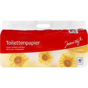 Jeden Tag Toilettenpapier 3-lagig - 10x200 Blatt