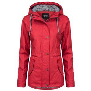 ODYSSEE Damen Regenjacke, Farbe:rot, Größe:L