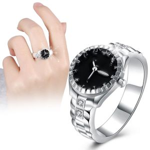 Fingerring-Uhr-Frauen-kreative Dekoration HEISSES Geschenk