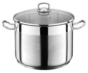 20 Liter Kochtopf mit Glasdeckel Suppentopf Topf Eintopf Induktion