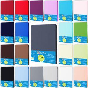 Spannbettlaken Jersey Spannbetttuch 100% Baumwolle Größe 160x200 cm, Farbe Anthrazit