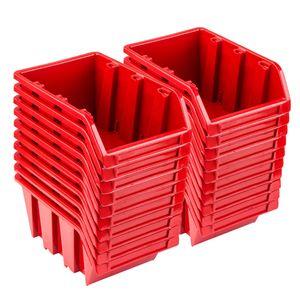Set 20 x Stapelboxen NP10 rot Lagerboxen Sortierboxen
