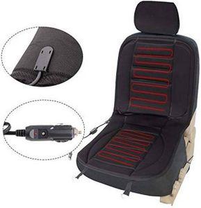 WOLTU Sitzheizung Auto für Sitz & Rücken Überhitzungsschutz 12V Schwarz