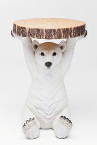 Kare Beistelltisch Polar Bear Ø37cm ; Maße (HxBxT): 53 cm x 37 cm x 37 cm, 78943