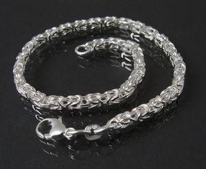 Königskette Armband Sterlingsilber 19cm x 3mm Schmuck 14030-19