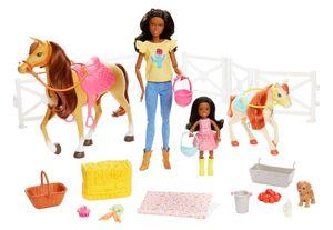 Barbie Reitspaß mit Puppe (brünett), Chelsea, Pferd und Pony