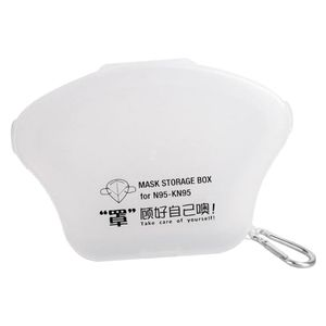 2Pcs Gesichtsmaske Aufbewahrungsbehälter Fall Box Maskenhalter Karabinerhaken klar Maskenaufbewahrungsbox