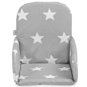 Jollein Sitzverkleinerer für Hochstuhl Little Star Grau 019-531-65009