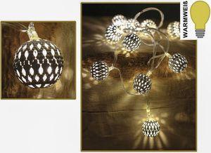 """(155) 10er LED """"Orient Spirit"""" Lichterkette Kugel LED Ball Lichterkette Batterie"""