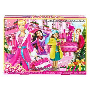 Mattel CLR43 Barbie Adventskalender 2015 Kalender mit Spielzeug für Puppen