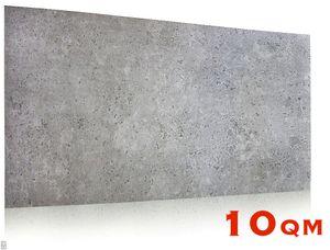 (!!! SPARPAKET 10qm / 20 Stück !!!) Wanddeko Platte Beton Imitation Wandpaneele Wandverkleidung BETONLOOK IMITATION aus Polystyrol