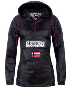 Geographical Norway babadowncity Damen Windbreaker Jacke, Black XL