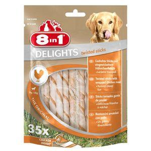 8In1 Delights Twisted Sticks mit Rind 35er, 190g