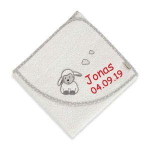 Sterntaler Kapuzenhandtuch mit Namen bestickt 80x80 cm Handtuch Baby Geschenk zur Geburt Badehandtuch, Motiv:Stanley uni