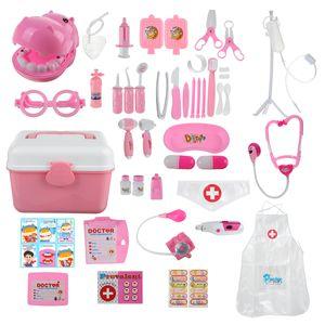 44tlg. Doktor Arztkoffer Spielset Medizinische Rollenspiel Spielzeug für Kinder, Pink