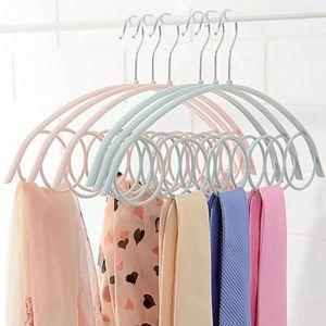 3er Multi-Schal Kleiderbügel Display hängen Schal Krawatten Gürtel organisieren 5-Ring Haken