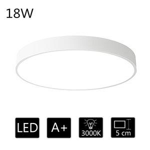18W ultra dünn Deckenleuchte Deckenlampe rund warmweiss 3000k  für küche Dieler Schlafzimmer (Weiß)