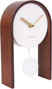 Karlsson tischuhr Smart Pendulum25 x 15 cm Holz braun/weiß