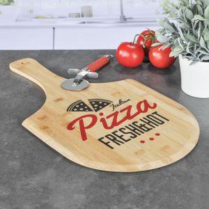 Pizzabrett aus Bambus - Pizza Fresh & Hot