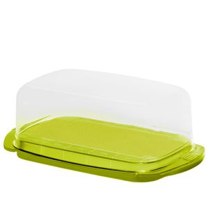 Rotho Fresh Butterdose Kunststoff ohne Rand BPA frei Boden ohne störenden Rand, Farbe:Limettengrün