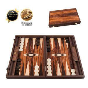 Palisander Crown Cut Backgammon Spiel - 48x30 cm - Wenge & Oak  Spitzenqualität