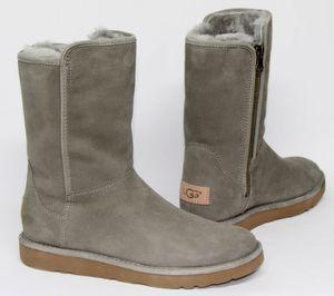 UGG Australia Abree Short Stiefel Winterstiefel Boots Leder/Lammfell Gr 36