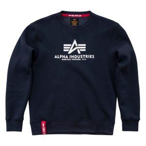 ALPHA INDUSTRIES Basic Sweater Herren Sweatshirt Pullover Sweater Navy, Größe:XXL