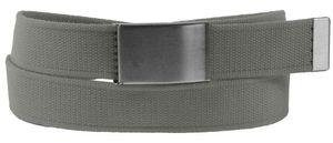 Stoff Gürtel 40mm Breite starkes Band Überlänge! 7 Farben, Bundweite:Bundweite 105 = Gesamtlänge 119, Farben:grau