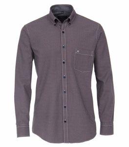 Casa Moda - Casual Fit  - Herren Freizeit Hemd mit Kent-Kragen (403491100), Größe:M, Farbe:Rot (400)