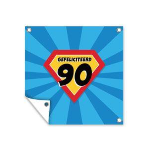 Gartenposter - Jubileum - 90 jaar - Feest - 100x100 cm