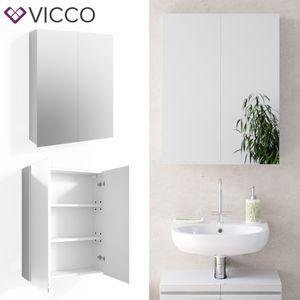 VICCO Spiegelschrank FREDDY Weiß Spiegel Badspiegel Wandspiegel Badezimmer