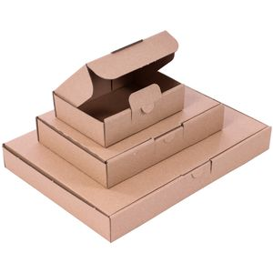 10 Maxibriefkartons 338 x 250 x 44 mm braun, DIN A4, Versandkarton Warensendung Päckchen geeignet für DHL DPD GLS