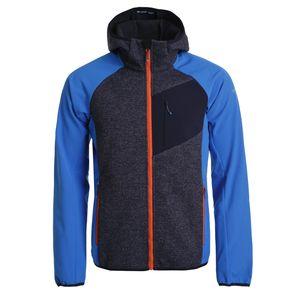 Icepeak Softshelljacke Danfort für Herren mit Kapuze, Farbe:Blau, Bitte Größe wählen:52