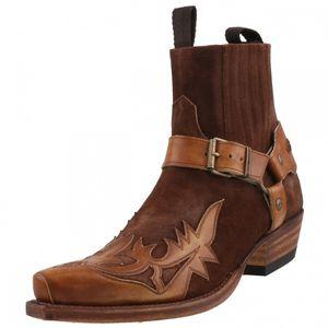 Sendra Cowboy Stiefelette 12179 Braun, Schuhgröße:EUR 42