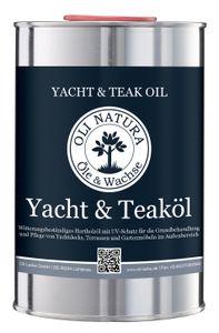 OLI-NATURA Yacht- und Teaköl (Holzöl für Außenbereich, UV-Schutz), 1 Liter, Farbe: Teak