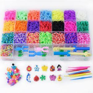 6800x DIY Loom Bands Webrahmen Bänder Gummiband Box Bands Webhaken Set Gummi Spielzeug