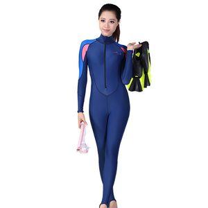 Tauchanzüge Männer Frauen Multifunktionaler Sonnenschutz-Langarm-Badeanzug WLF90417049PKS