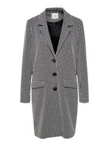 JDY Damen Tweed Mantel Übergangsjacke Gefüttert Regular Fit JDYBESTY , Farben:Weiß-Schwarz, Größe:36