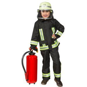 Feuerwehr Kostüm Samy für Kinder Uniform schwarz, Größe:104