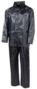 MFH Regenanzug, Polyester, schwarz - L