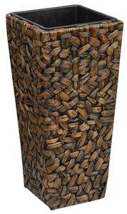 Gartenfreude Pflanzgefäß mit Wasserhyazinthe 28 x 28 x 60 cm, inkl. wasserdichtem Kunststoffeinsatz, naturfarben, W4001-1000-002
