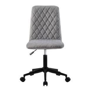 Samt Bürostuhl Schreibtischstuhl Computerstuhl Arbeitsstuhl Drehstuhl Verstellbare Höhe für Büro Schreibtisch Schminktisch, Grau