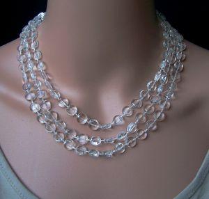 Z270# Perlenkette lang kristall Imitationsperlen Wickelkette Halskette