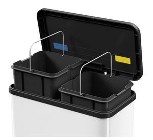 Hailo Tret-Abfalltrenner ECO DUO L 2 x 14 L silber