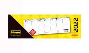 Idena Tischkalender 2022 Querformat Schreibtisch Kalender 1 Stück