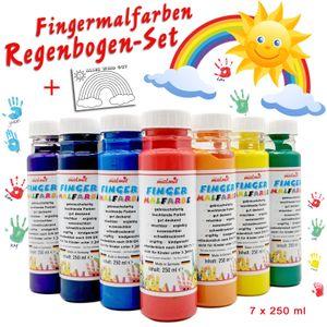 Fingermalfarbe Regenbogen Set je 250 ml